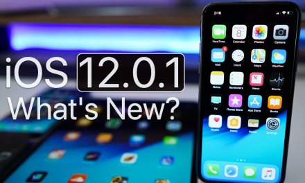 iOS 12.0.1 is Out! – What's New?