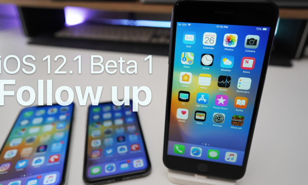 iOS 12.1 Beta 1 – Follow up