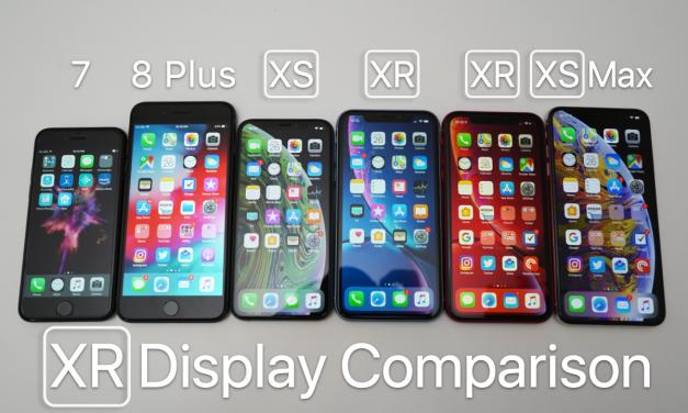 iPhone XR Display Comparison