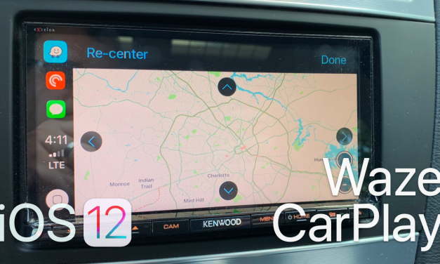 iOS 12 – Waze on Apple CarPlay