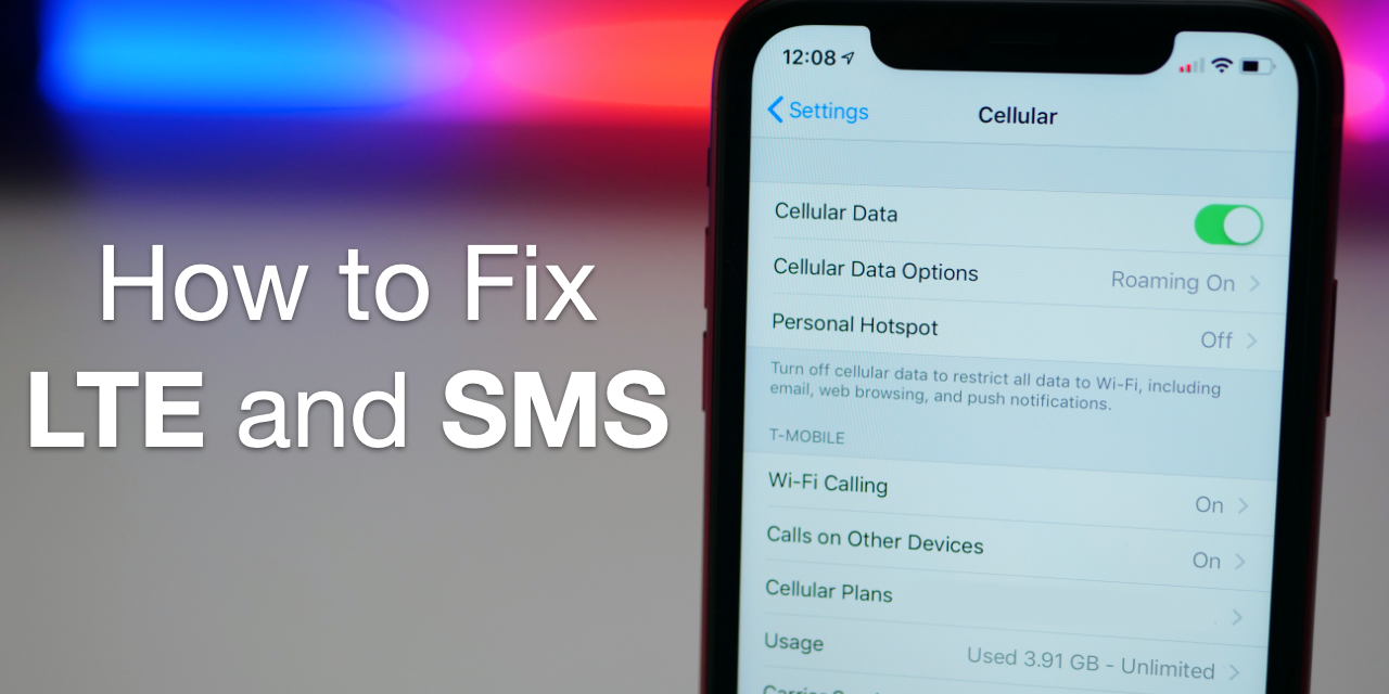 How To Fix LTE and SMS Issues on iOS 12.1.2 and Newer