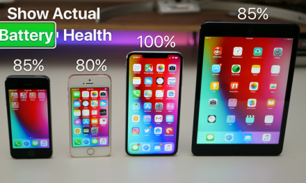 Show Actual iPhone and iPad Battery Health