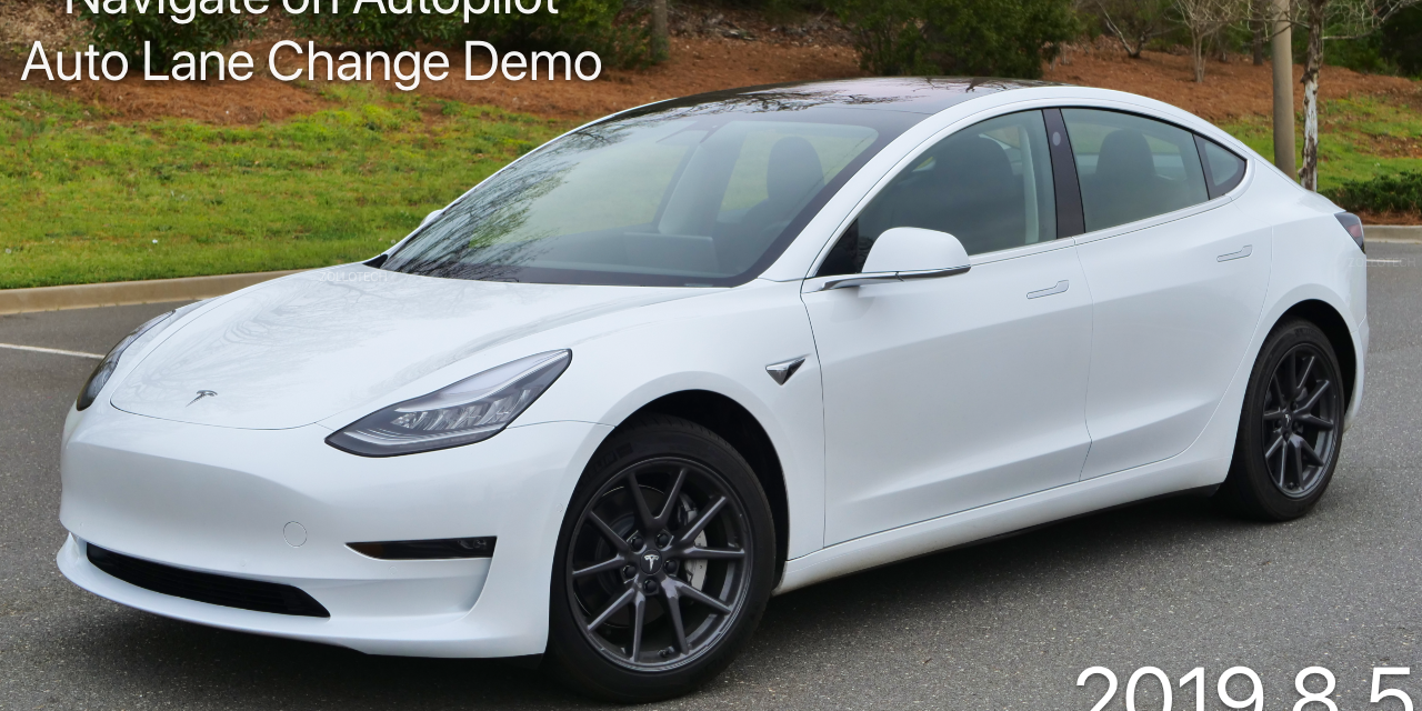 Tesla Model 3 No Confirmation Lane change Autopilot – Update 2019.8.5
